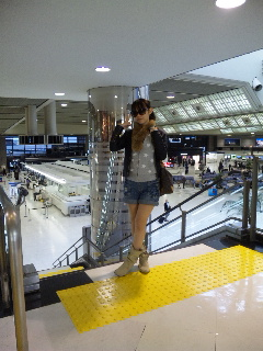 空港で…☆